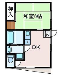早川荘[2階]の間取り