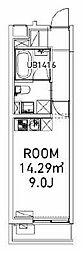 東京メトロ南北線 東大前駅 徒歩6分の賃貸マンション 2階ワンルームの間取り