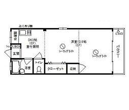 中村ビルマンション[4階]の間取り