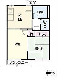 ドムールAKI[2階]の間取り
