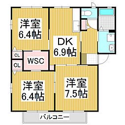 ルミナスアライ B棟[1階]の間取り