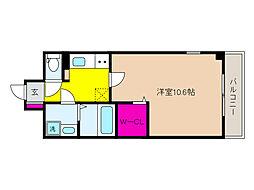 JR東海道・山陽本線 摂津本山駅 徒歩14分の賃貸マンション 4階1Kの間取り