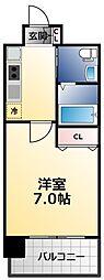 アービングNeo平野駅前 6階1Kの間取り