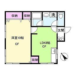 元禄荘[1号室]の間取り