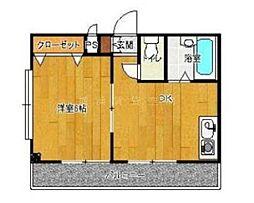 神奈川県横浜市西区戸部町2丁目の賃貸マンションの間取り
