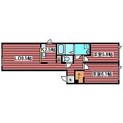 北海道札幌市豊平区福住三条3丁目の賃貸アパートの間取り