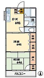 トモエコーポ[1階]の間取り