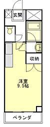 河芸マンション[2階]の間取り