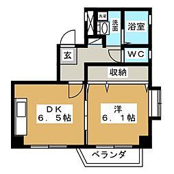 サンセイハイツ押切[5階]の間取り