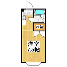 ロイヤルメゾン三浦[1階]の間取り