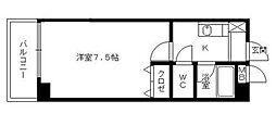 シティプラザ平尾[4階]の間取り
