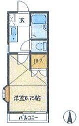 ロイヤルコーポTIU A棟[1階]の間取り