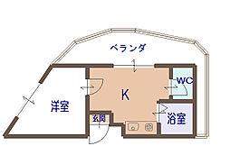 エムロード大門[2階]の間取り
