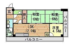 モアライフ[5階]の間取り