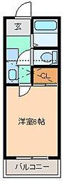 ベルシオン桐生第2[104号室]の間取り