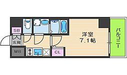 JR大阪環状線 福島駅 徒歩14分の賃貸マンション 7階1Kの間取り