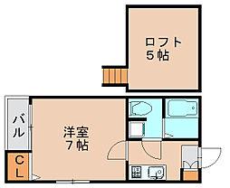 ペア箱崎駅南[1階]の間取り
