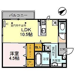 (仮)D-room四十万町[205号室]の間取り