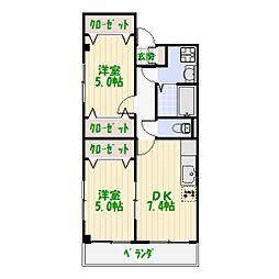 D−ハウス6[0302号室]の間取り
