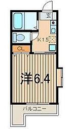 神奈川県川崎市幸区南幸町1丁目の賃貸アパートの間取り