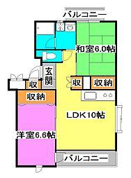 埼玉県新座市あたご3丁目の賃貸マンションの間取り