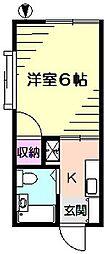 ニュー綿貫ハイツ[1階]の間取り