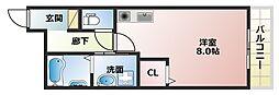 大阪府大阪市阿倍野区天王寺町北1丁目の賃貸アパートの間取り
