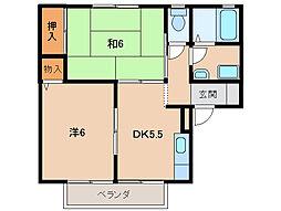 セジュール葵[2階]の間取り
