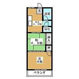 小松マンション[3階]の間取り