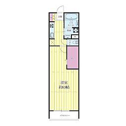 JR東海道・山陽本線 吹田駅 徒歩18分の賃貸マンション 3階1Kの間取り