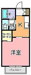 ハウス ハイマート A棟[205号室]の間取り