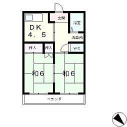 湖琴マンション[2階]の間取り