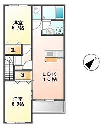 HEADLEY GRANGE[2階]の間取り
