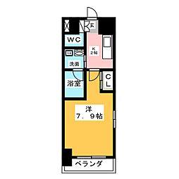 サムティ熱田RESIDENCE 5階1Kの間取り