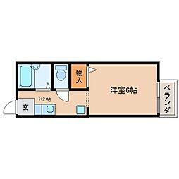 静岡県静岡市駿河区有東3丁目の賃貸アパートの間取り