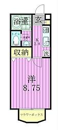 セレ中和倉[103号室]の間取り