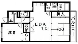 井関マンション[302号室号室]の間取り