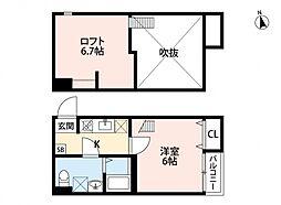 ルッカ新松戸[105号室号室]の間取り