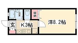 JRフロント[101号室]の間取り