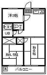 柚の木田ハイツ[105号室]の間取り