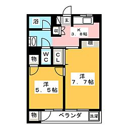 杉江レジデンス[5階]の間取り