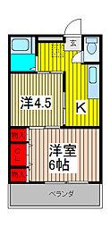 村田ハイツ[3階]の間取り