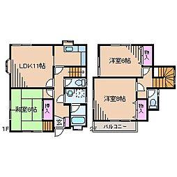 [一戸建] 神奈川県横浜市鶴見区上の宮1丁目 の賃貸【/】の間取り