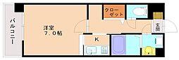 ヒュースロア井尻[3階]の間取り