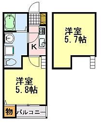 bright maison(ブライトメゾン)[102号室]の間取り
