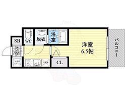 Osaka Metro長堀鶴見緑地線 京橋駅 徒歩11分の賃貸マンション 13階1Kの間取り