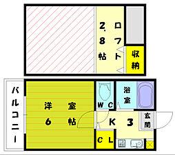 グラフィックメゾン和白東[1階]の間取り