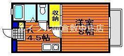 岡山県倉敷市沖丁目なしの賃貸アパートの間取り