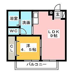 カンノアパート[1階]の間取り