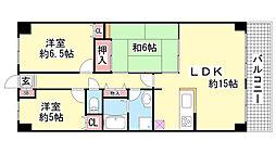 ライオンズマンション北鈴蘭台 第2[716号室]の間取り